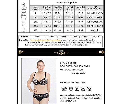 SZH YIBI La Sra gran tamaño bikini de alta elasticidad ambiental de fertilizantes para aumentar Europa y el traje de baño partido Estados Unidos leopard