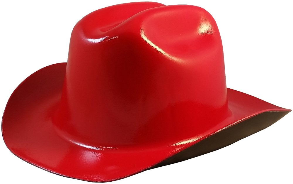 Western Cowboy Hard Hat with Ratchet Suspension Yellow