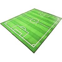 Funs Sport Football Soccer Field Ground Room Bedroom Playroom Carpet Mat Kids Area Play Floor Rug (Green, 39x51)