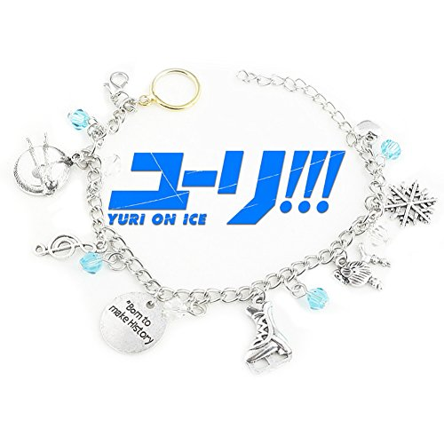 Yuri! On Ice Anime Inspired Jewelry Collection Multiple Charms Bracelet w/Gift Box by Superheroes Brand (Awesome Mother Daughter Halloween Costumes)