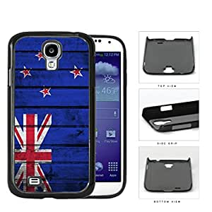 New Zealand Flag With Grunge Wood Surface Hard Plastic Snap On Cell Phone Case Samsung Galaxy S4 SIV I9500