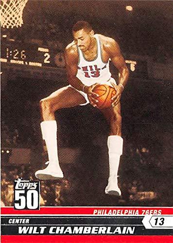 (Wilt Chamberlain basketball card (Philadelphia 76ers) 2008 Topps Fifty #45 )