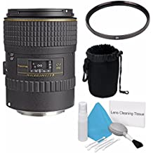 Tokina 100mm f/2.8 at-X M100 AF Pro D Macro Autofocus Lens for Canon EOS (International Model) +Deluxe Cleaning Kit + 55mm UV Filter + Deluxe Lens Pouch