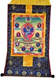 Tibetan Buddhist Art Altar Thangka Painting Scroll (Hevajra in Yab Yum)
