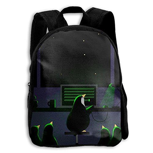 Penguin At Work Printed Durable Kid's Mini Backpack ()