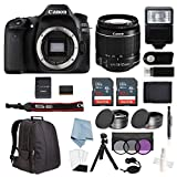 Canon EOS Rebel 80D Bundle with EF-S 18-55mm is STM Lens + Advanced Accessory Kit – Including Everything You Need to Get Started