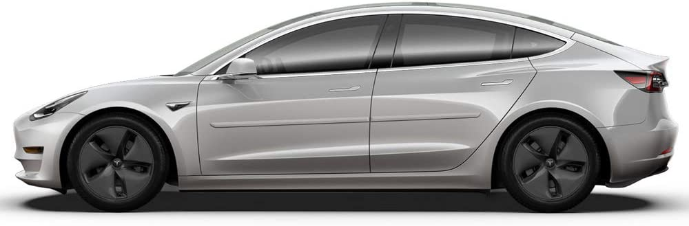 Dawn Enterprises FE-Tesla-3 Finished End Body Side Molding Compatible with Tesla Model 3 PBCW Catalina White