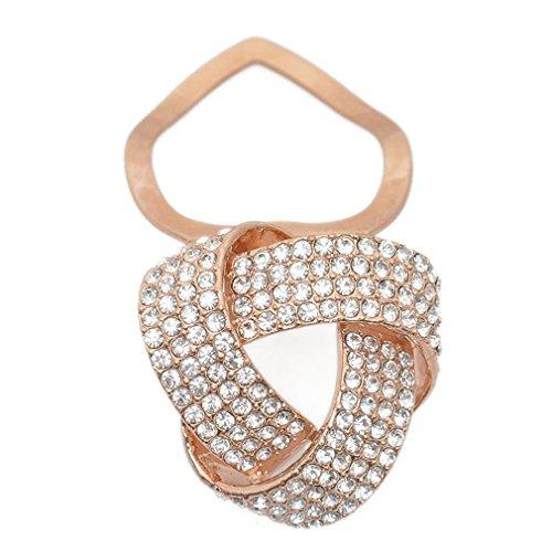 Maikun Round Rhinestone Brooch Scarf Ring Gift for Valentine's Mother's Day by Maikun (Image #1)