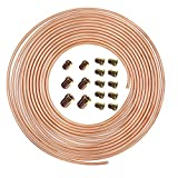 25 Ft. of 3/16 in Brake Line Flexible, Easy to Bend Replacement Tubing Kit (Includes 16 Fittings) -Inverted Flare, SAE Thread