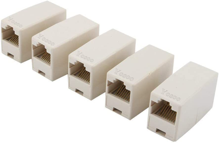 RJ45 CAT5 Network Cable Connector Adapter Coupler RED 5PCS