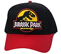 Jurassic Park Movie Yellow Sci-Fi Patch Snapback Red Black Cap Hat by Project T
