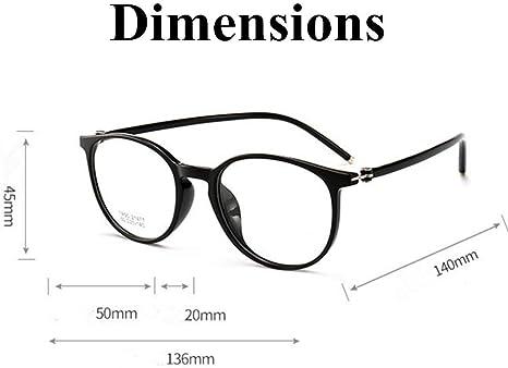 QULIN Montatura per Occhiali da Vista Quadrata retr/ò Cats Eye Trasparente Montatura da Donna Trasparente Montatura da Donna per Uomo Unisex