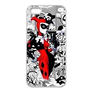 Caitin Marvel Comics Joker And Harley Quinn Batman Cell Phone Cases Cover for iphone 5 5s