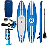 iROCKER Paddle Boards Inflatable 10-Feet Long X 6-Inch Thick SUP Package, Blue