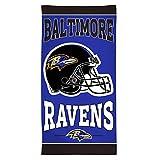 "WinCraft NFL Baltimore Ravens Fiber Beach Towel, 30"" x 60"""