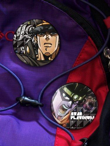 Jojo's bizarre adventure Jotaro can badge set