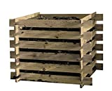 Plug Composter Wood Compost Bin Kit 100x100x70cm Composter