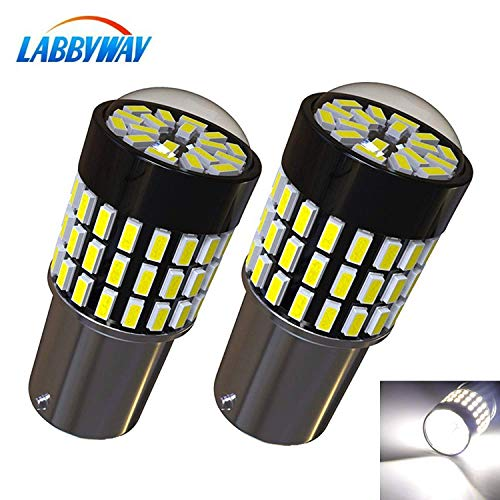 LABBYWAY 2 Pcs Super Bright 900 Lumens 1156 3014 78-EX Chipsets 1156 1141 1003 7506 LED Bulbs Used For for Back Up Reverse Lights,Brake Lights,Tail Lights,Rv lights,Xenon White