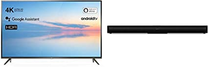 TCL 43EP640 Televisor 108 cm (43 Pulgadas) Smart TV + Barra de Sonido Bluetooth TCL TS500 (80 cm) para TV: Amazon.es: Electrónica