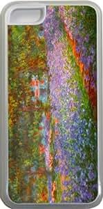 Rikki KnightTM Claude Monet Art Monet's Garden Design iPhone 5c Case Cover (Clear Rubber with bumper protection) for Apple iPhone 5c