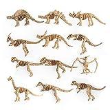 Ytzada 12 Pieces Dinosaur Fossil Skeleton Figure Toys, Assorted Educational Dinosaur Bones Playset Birthday Gift Boys Kids Toddlers