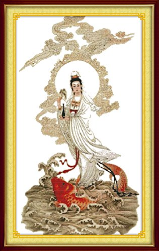 Happy Forever Cross Stitch, Chinese style figure, one appear