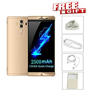 Perfectink 6 CTC Touchscreen Smartphone 3G Unlocked Android 6.0 Dual SIM Quad Core For Mobile Phone-Gold (Gold)