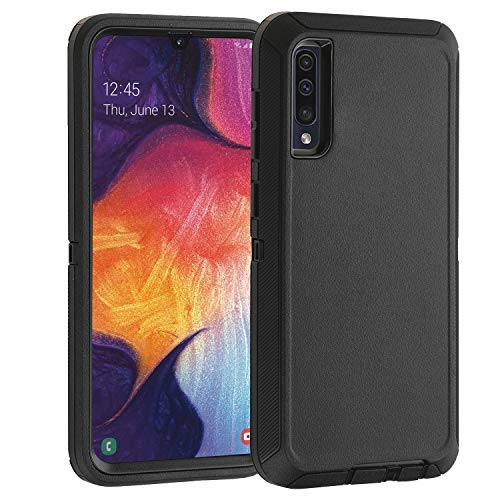 Co-Goldguard Case for Samsung Galaxy A50 / A50s, Heavy Duty Cover [NO Screen Protector] 3 in 1 Shockproof Drop-Proof Shell,Black