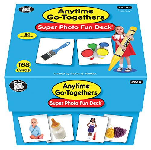 French Flash Cards Free - Super Duper Publications Anytime Go-Togethers Photo Fun Deck Flash Cards Educational Learning Toy for Kids