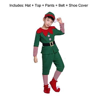 hengGuKeJiYo Elfo de Navidad Grinch Disfraz de Cosplay para niños ...