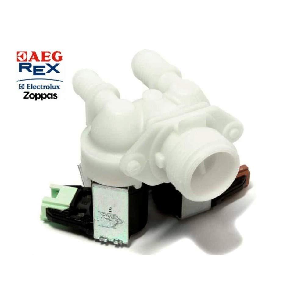 Electroválvula doble 2 vías carga agua lavadora Rex Electrolux Aeg ...
