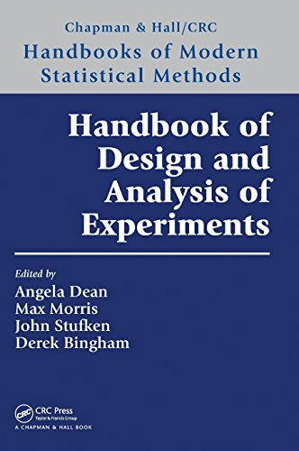- Handbook of Design and Analysis of Experiments (Chapman & Hall/CRC Handbooks of Modern Statistical Methods)