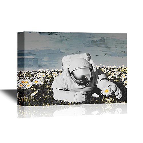 Astronaut on the Field with Flowers Gallery