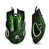 Gaming Mouse 5000dpi Professional USB Mouse Mice Changeable LED Light 6 Buttons Computer Optical Mouse For Gamer