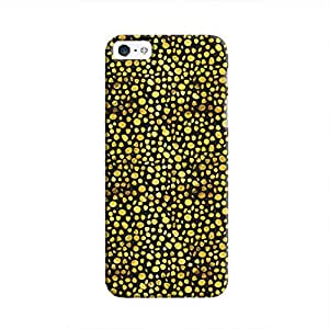 Cover It Up - Gold Black Pebbles Mosaic iPhone 5c Hard Case