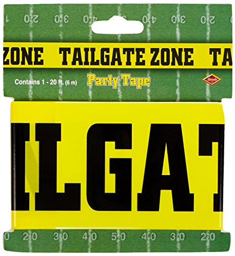 Tailgate Zone Party Tape Party Accessory (1 count) (1/Pkg) (Tailgating Decorations)