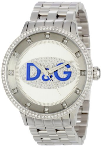 D&G Dolce & Gabbana Men's DW0133 Prime Time Rectangle TV Analog Backlight Case Watch
