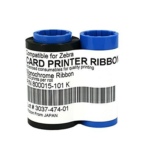 P430i Color Zebra (800015-101 Black Monochrome Ribbon For Zebra iSeries Card Printer 1000 Prints)