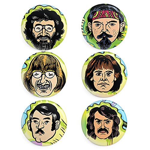 Grateful Dead Band Member 6-button collector set - 1