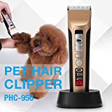 Low Noise Rechargeable Cordless Pet Dogs and Cats Electric Clippers Grooming Trimming Kit Set Hair Trimmers