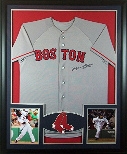Manny Ramirez Framed Jersey Signed Steiner COA Autographed Boston Red Sox Ramirez Autographed Jersey