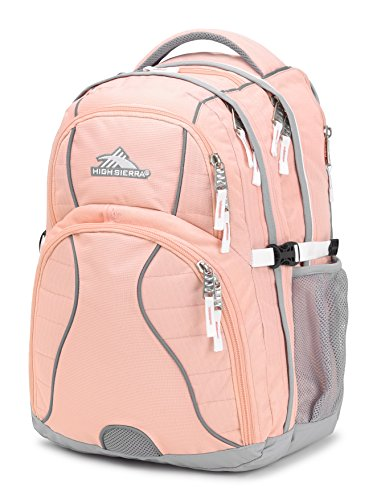 High Sierra Swerve Laptop Backpack, Sand Pink/Ash/White