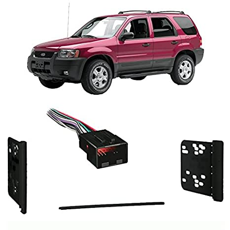image unavailable  image not available for  color: fits ford escape 2001-2003  double din stereo harness