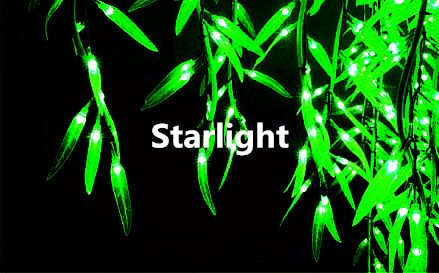 Starlight Outdoor LED Willow Tree Light 4ft Green Color 480pcs LEDs Rainproof Home/Party/Wedding/Christmas/Holiday/Garden Decoration LED Landscape Light