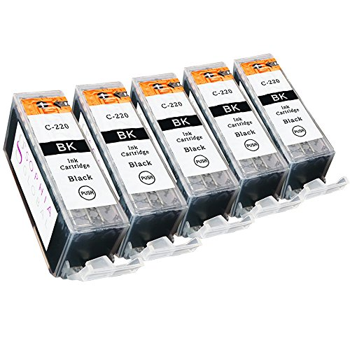 Sophia Global Compatible Ink Cartridge Replacement for Canon PGI-220 (5 Large Black)