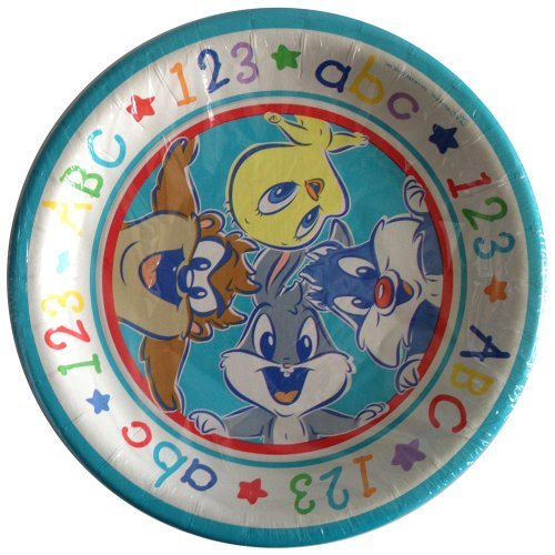 Baby Looney Tunes 'Alphabet Fun' Large Paper Plates (8ct) ()