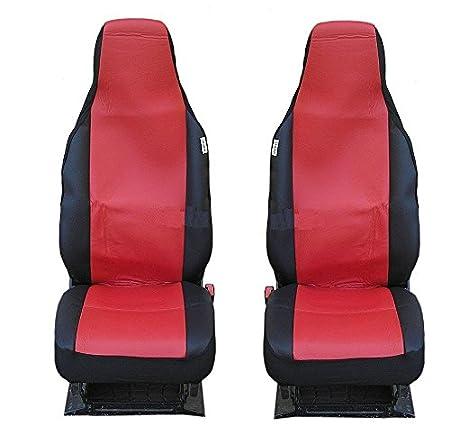2x Sitzbezüge Schonbezüge Schonbezug Rot Kunstleder Einteilig Neu Hochwertig Baby
