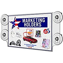 """Marketing Holders Suction Cup 11"""" x 8 1/2"""" Sign Holder Literature Display Premium Acrylic Material Qty 1"""