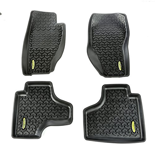- Outland 391298728 Black Front and Rear Floor Liner Kit For Select Jeep Liberty Models