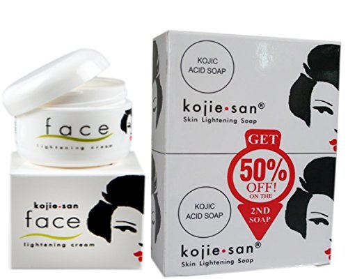Kojie San Value Pack: Kojie San Original Skin Lightening Soap (135g, 2 Pack) and Kojie San Original Whitening Face Cream (30g) by Kojie San Beauty Elements Ventures Inc.